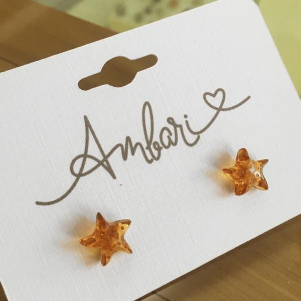 Aros Ámbar Estrella 001